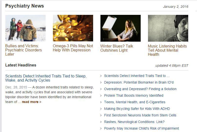 Pratite najnovije vijesti iz područja neuroznanosti i kliničke psihijatrije…